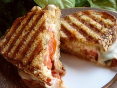 Make and share this Caprese Panini (Mozzarella, Tomatoes and Basil) recipe from Genius Kitchen. Gourmet Sandwiches, Panini Sandwiches, Wrap Sandwiches, Vegetarian Sandwiches, Vegetarian Recipes, Cooking Recipes, Going Vegetarian, Vegetarian Breakfast, Vegetarian Dinners