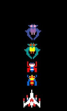 I love Galaga. It's my old school game of choice because I'm a beast at it. :)