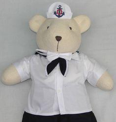 Ursinho de Tecido vestido de marinheiro