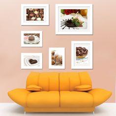 Elevenfy 6 Pcs White Photo Frame Wood Made Wall Mounted Art Nostalgic Home Decor Set