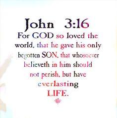 John 3:16, ɭ0ƲᏋ~❥