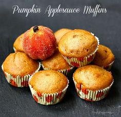 Pumpkin Applesauce Muffins Oct 18 2013 Pumpkin Applesauce Muffins http://www.simplyhappenstance.com/pumpkin-applesauce-muffins/