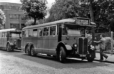 Bus terminus at Clapton Pond Hackney - Vintage London, Old London, North London, East London, London Transport, Public Transport, Classic Chevy Trucks, Classic Cars, Old Lorries