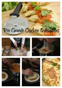 Rio Grande Quesadillas - Step by step pictures of the recipe as shown on the Rada Cutlery Blog.  Click for ingredients, directions, video, etc.