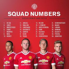 Manchester United have released all details of their squad's shirt numbers ahead of Premier League opener