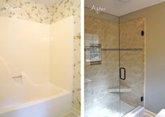 Master Bath Remodel - Removed tub/shower insert and replaced with custom tile shower Urban Creations Construction and Design, Inc. Sherry Deaton 864-415-7221