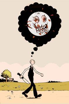 MY LOVE Illustration Artists, Comic Illustrations, Bizarre Art, Cartoon Pics, Weird And Wonderful, Horror Art, Great Artists, All Art, Art Inspo