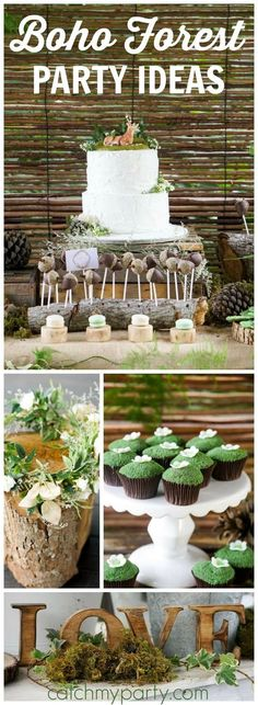 Such a lovely boho enchanted forest birthday party! See more party ideas at CatchMyParty.com!