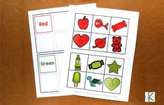Free Color Sorting Mats – Kindergarten Worksheets and Games