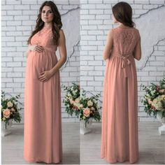 a880ec5f5cf Maternity Dress Pregnant Women Dress Round Neck Sleeveless Lace