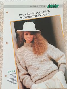 Creative Knitting, Polo Neck, Crochet Hats, Butterfly, Bows, Stitch, Pattern, Color, Women