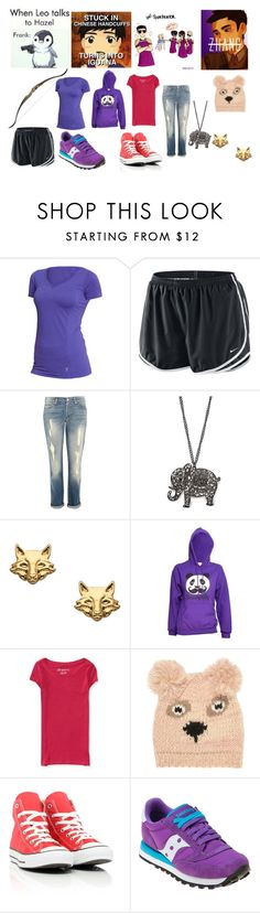 """Frank Zhang"" by nyssa-fire ❤ liked on Polyvore featuring Paul Frank, Old Navy, NIKE, 7 For All Mankind, MANGO, Foxy Originals, David & Goliath, Aéropostale, Jane Norman and Converse"