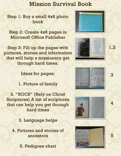 """Mission Survival Book: A small """"book"""" I made with useful pages for personally surviving my mission"""