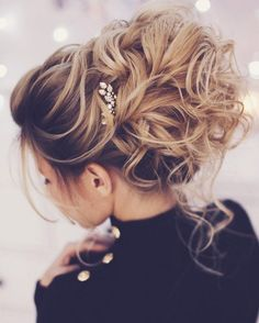 Pretty messy wedding updo hairstyle for Every Type of Bride