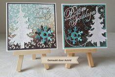 crea-scrap-card: Dubbel kaartje  Met dit kaartje ben ik 2de geworden bij callenge blog van Marianne Design