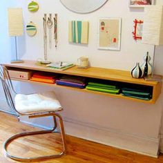 I really want a wall mounted desk, preferably a corner one, but this looks nice too.