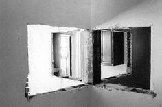 Gordon Matta-Clark, Bronx Floors- Four-way wall, 1973