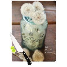 """Debbra Obertanec """"Jar of Wishes"""" Fuzzy Cutting Board"""