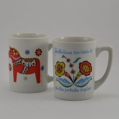 """Swedish phrase that translates: """"Coffee is the best of all earthly beverages"""" Clearly my Swedish blood is alive and well. Scandinavian Dinnerware, Scandinavian Art, Wooden Plates, Porcelain Dinnerware, Vintage Kitchenware, Menu Restaurant, Bergen, Floral Motif, 1960s"""