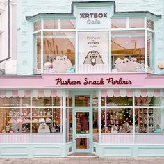 ARTBOX Cafe, the UK's first dedicated character themed cafe and shopping experience! Pusheen Cute, Pusheen Stuff, Covering Popcorn Ceiling, Wedding Backdrop Design, Cupcake Boutique, Garden Shop, Coffee Design, Covent Garden, Cafe Interior