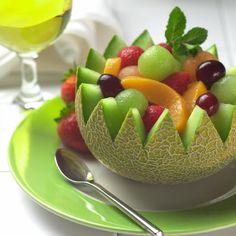 PALEO DIETA: Ovocný salát v melounu / Fruit salad in melon