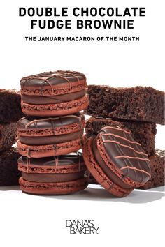 Double the Chocolate, Double the Brownie, Double the Fudge! Dana's Bakery macarons are gluten free, kosher & shipped fresh nationwide. To order, visit www.danasbakery.com.