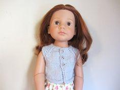 Petit gilet raglan gris clair pour poupée Happy Kidz de Gotz  ou Finouche de Petit Colin