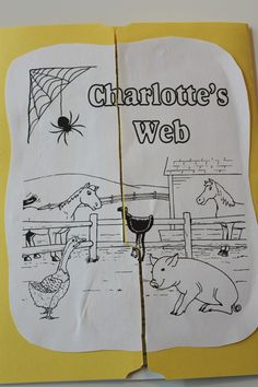 Charlotte's Web lapbook, covering animals on the farm, roman numerals, seasons… Charlottes Web Activities, Charlotte's Web Book, Web Activity, Teaching First Grade, Thematic Units, Book Study, Classic Literature, Book Projects, Book Activities