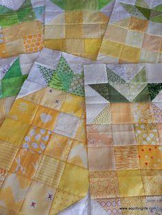 FREE Pattern from guest Jackie Padesky http://blog.patsloan.com ... : free pineapple quilt pattern - Adamdwight.com
