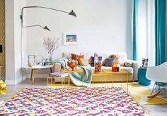 Casinha colorida: Um apartamento diferente com destaque para as cores