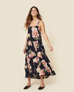The Lulu Dress Black Floral