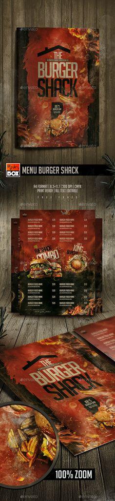 54 Best Burger Menu Templates Images