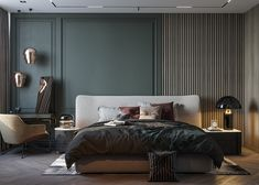 Awesome Luxury Bedroom Design Ideas You Must Have - A number of interior designers have had successes from previous designs that capture the plain white room into something that can distract an owner de. Luxury Bedroom Design, Bedroom Bed Design, Home Bedroom, Interior Design Living Room, Bedroom Decor, Bedroom Furniture, Bedroom Kids, Master Bedrooms, Style Deco
