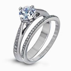 Modern Enchantment Collection Engagement Set MR1511 from Simon G Jewelry