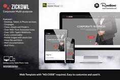 Zickowl - Corporate Muse Template by Rometheme on @creativemarket