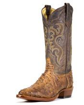 MEN'S CHOCOLATE VINTAGE FULL QUILL OSTRICH BOOT    $425.95