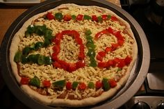 New Years Pizza idea - could do this  with surprise spread as well