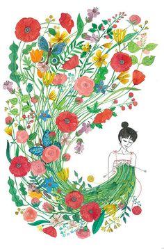 Nuclear Kitten Handknits - willknit4tattoos:   knit me flowers :: oana befort
