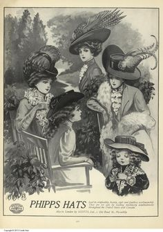 Phipps Hats ad from Vogue, October 8, 1908