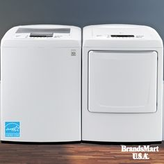 LG Laundry Pair On Sale Now  4.5 CuFt Top Load Washer & 7.3 CuFt Electric Dryer Under $800  The Intelligent Electronic Controls with a Dual LED Display in front puts a revolutionary spin on laundry. Forget Something? No Problem. This LG Washer has a built-in pause button that lets you pause your wash after it starts and drop in a stray piece of clothing. • LG • Laundry • Appliance • Sale • Washer • Dryer • Deals • Smart • Clothes • Wash • Cleaning • Clean • Appliances