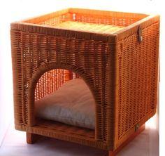 dog bed rattan cottage life pinterest flechten und r llchen. Black Bedroom Furniture Sets. Home Design Ideas
