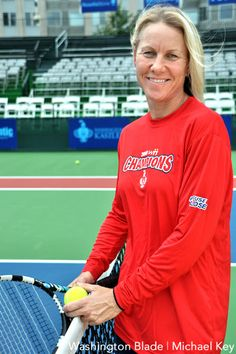 Australian doubles champion Rennae Stubbs represented her home country in four Olympic games (1996, 2000, 2004, and 2008). She's the winner of 60 Grand Slam matches, including taking the top spot in the Australian Open in 2000, the U.S. Open and Wimbledon in 2001, and Wimbledon again in 2004. She is the longest serving member of the Australia Fed Cup team, for which she played 17 years. Stubbs came out publicly in a 2006 article in The Sydney Morning Herald.