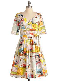 Comic print dress c/o Modcloth sz 14 UK NwT's Vestidos Vintage Retro, Retro Vintage Dresses, Jackie Kennedy, Couture, Mod Dress, Novelty Print, Mode Inspiration, Fashion Inspiration, Modcloth