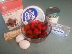This decadent looking dessert starts with a Paka Cake Brownie mix baked in rounds covered with lowfat cream filling and topped with delicious fresh strawberries and low calorie cherry pie filling. Who said dieting couldn't be delicious?...