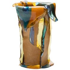 Nativocampana Home Bromelia Vase (1,965 SAR) ❤ liked on Polyvore featuring home, home decor, vases, multicolor, round vase, circular vase, handmade home decor, colorful vases and colored vases