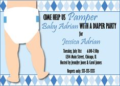 Custom Diaper Shower Invitation by FreeStyleDesignCo on Etsy, $15.00