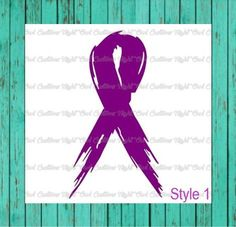 Purple Preemie Ribbon Decal