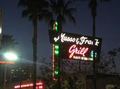 Musso and Frank Grill, since 1919. Famed watering hole for writers, including  F. Scott Fitzgerald, Charles Bukowski, William Faulkner, Raymond Chandler and Ernest Hemingway.