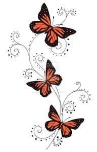 Orange Butterfly Swirls By Crazyeyedbuffalo On Deviantart