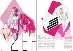 Yolandi Yi$$er Magazine spread  #katiepiperdesigns